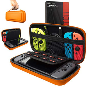 Orzly Carry Case Compatible With Nintendo Switch - ORANGE