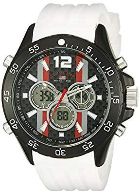 U.S. Polo Assn. Sport Men's US9527 Analog-Digital Display Analog Quartz White Watch