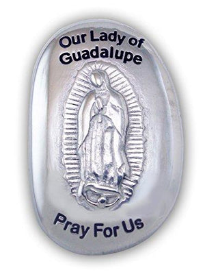 Cathedral Art Our Lady of Guadalupe Patron Saint Thumb Stone, 1-1/2 x 1 Inch, TS124