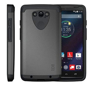 Tudia Ballistic Slim-Fit Cygen Dual Layer Protective Case For Moto Droid Turbo - Metallic Slate
