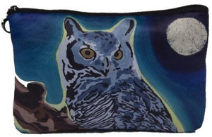 Owl Cosmetic Bag, Zip-top Closer - Taken From My Original Painting, The Wise One
