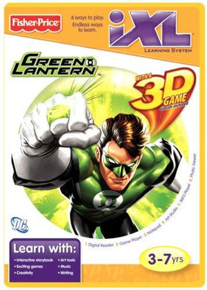 Fisher-Price Ixl Learning System Software Green Lantern 3D
