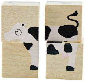 BeginAgain BuddyBlocks Farm Animals - Matching and Problem Solving - Kids 18 Months and Up