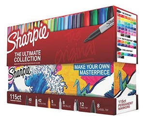 Sharpie 1983255 Permanent Markers Fine And Ultra Fine Points Assorted Colors 115 Count
