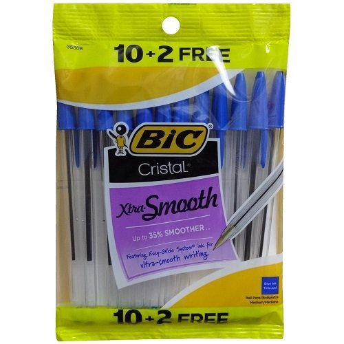 Bic Cristal Xtra-Smooth - 10 + 2 Free - Blue Pens