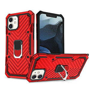 REJAZZ Iphone 12 Max Case | Iphone 12 Pro Case | Kickstand 6.1 Inch 2020-Red