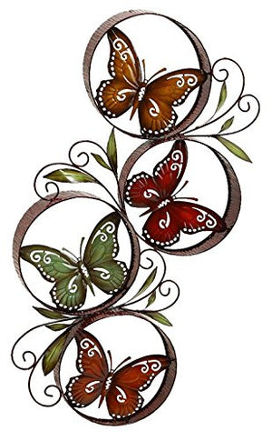 Deco 79 Metal Butterfly Decor Fills the Color of Nature in Rooms