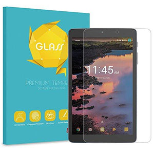 "Fintie Alcatel 3T / A30 8"" Tempered Glass Screen Protector - [Anti Scratch] Premium Hd Clear [9H Hardness] Protective Scre"