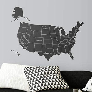 RoomMates United States Chalk Map Peel and Stick Giant Wall Decals