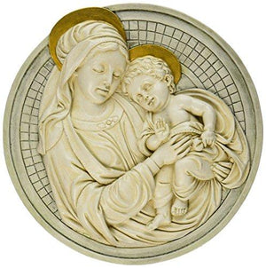 Design Toscano Madonna and Child Roundel Wall Sculpture