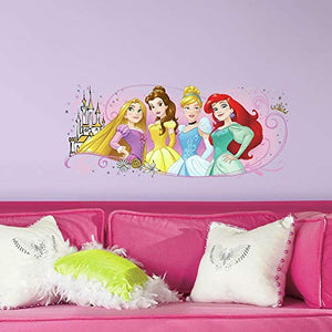 RoomMates Disney Princess Friendship Adventures Peel And Stick Giant Wall Graphic