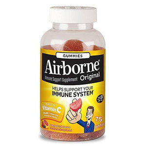 Airborne Assorted Fruit Flavored Gummies, Vitamin C 1000mg -  75 count