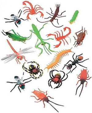 "Darice 16 pc – 2"" Long Plastic Bugs and Arachnids – for Playtime, Party Decor"