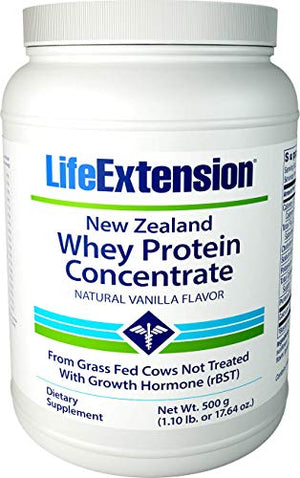 Life Extension New Zealand Whey Protein Concentrate (Vanilla Flavor)