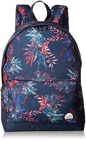 Roxy Women'S Sugar Baby Printed Backpack, Dress Blues Cariban Flowers