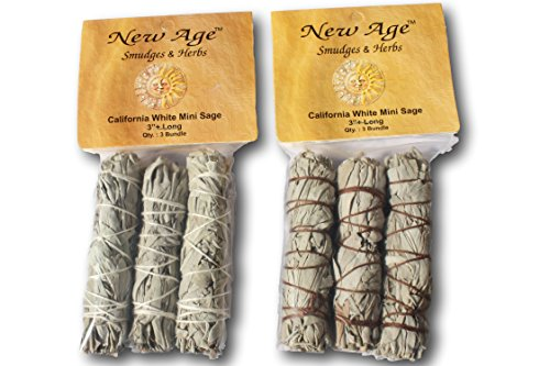2 X White Sage Smudge Stick 3-Pack