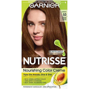 Garnier Nutrisse Nourishing Color Creme, 53 Medium Golden Brown (Chestnut)