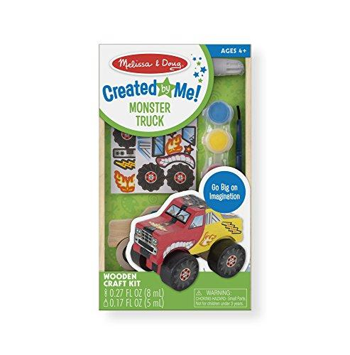 Melissa & Doug Decorate-Your-Own Wooden Monster Truck Craft Kit