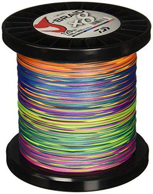 Daiwa J-Braidx8 Braided Line Multicolor Color