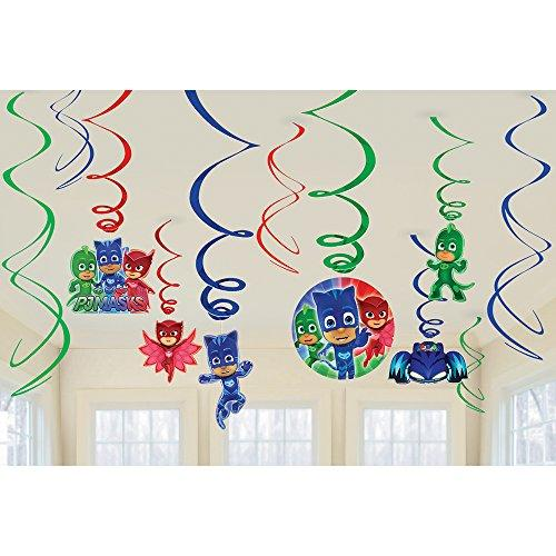 Amscan Pj Masks Birthday Party Hanging Decoration Swirls