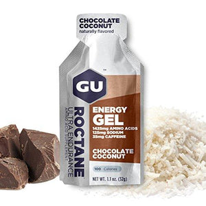 Gu Energy Labs Roctane Ultra Endurance Energy Gel, Chocolate Coconut, 24-Count
