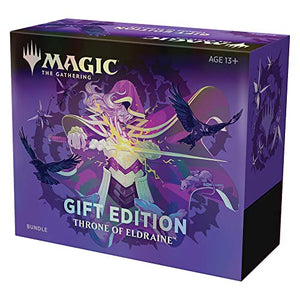 Magic The Gathering Throne of Eldraine Bundle Gift Edition | Alternate Art | 10 Booster Pack | 1 Collector Booster | Accessories