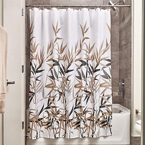 "Interdesign Anzu Fabric Shower Curtain - 72"" Inches X 72"" Inches, Black/Tan"