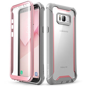 I-Blason Ares Designed For Galaxy S8 Case Full-Body Rugged Clear Bumper Case (Pink)
