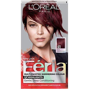L'Oreal Paris Feria Hair Color, 41 Rich Mahogany (Packaging May Vary)