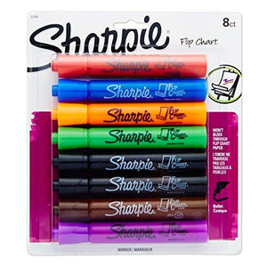 Sharpie 22480Pp Flip Chart Markers, Bullet Tip, Assorted Colors, 8-Count
