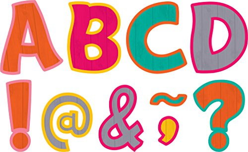 "Teacher Created Resources Tropical Punch Funtastic Font 3"" Magnetic Letters"