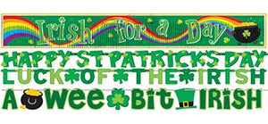 "Amscan ""Happy St. Patrick'S Day"" Paper Banners, Value Pack, 4 Ct. 