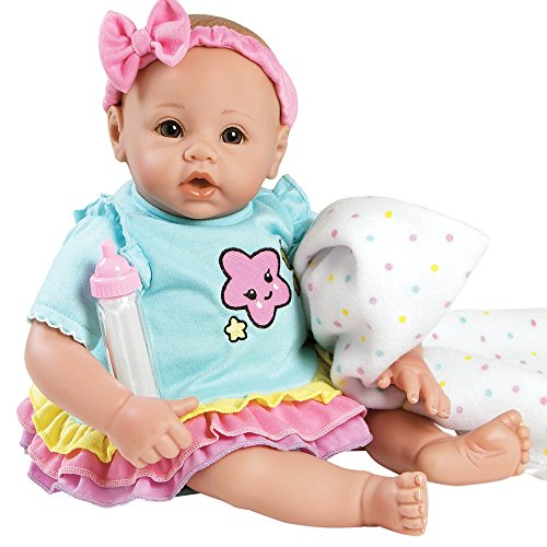 Adora BabyTime Collection in Rainbow with Newborn Baby Doll, Soft Blanket & Feeding Bottle