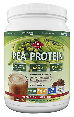 Olympian Labs Pea Protein Shake, Chocolate, Small, 18.8 Ounce