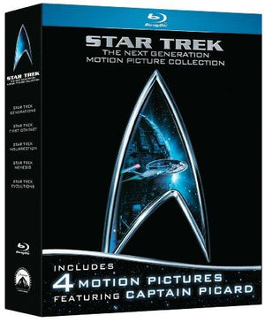 Star Trek The Next Generation Motion Picture Collection (First Contact   Generations  Insurrection  Nemesis) Bluray