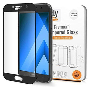 Orzly Tempered Screen Protector For Galaxy A5 2017 Model - Transparent With Black Rim
