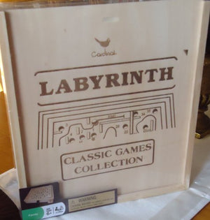 Classic Games Collection - Labyrinth Maze Board Game w/ Metal Ball