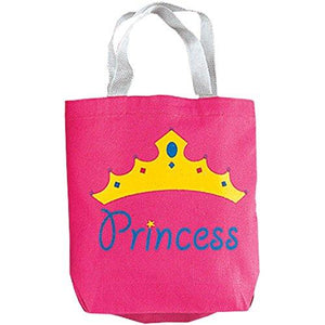 Fun Express Princess Canvas Tote Bags - 12 Pieces