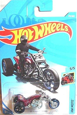 Hot Wheels 2018 50Th Anniversary Hw Moto Blastous Moto (Motorcycle) 179/365, Maroon