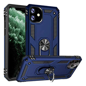 Reejax iPhone 11 Case,Military Grade 15 ft. Drop Tested,Shockproof Cover with Magnetic Ring Kickstand Protective Phone Case for Apple iPhone 11 Blue