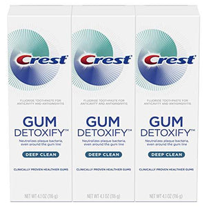 Crest Gum Detoxify Deep Clean Toothpaste Triple Pack 4.1 Ounce