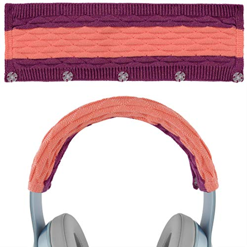 Geekria Sweater Knitting Headphone Headband for Beats Solo3, Solo2, Studio3, ATH MSR7, ATH-WS99BT Headphones/Stretchable Knit Fabric Headband Cover/Comfortable Protector Sleeve (Pop Magenta)