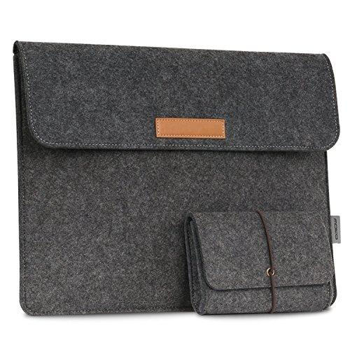 "Moko 10-11 Inch Tablet Sleeve Bag, Felt Case Cover Compatible With Ipad Pro 11"" 2018, Macbook 12 Inch, Surface 3 10.8"", Su"
