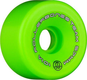 Rollerbones Team Logo 101A Recreational Roller Skate Wheels (Set Of 8), Green, 62Mm