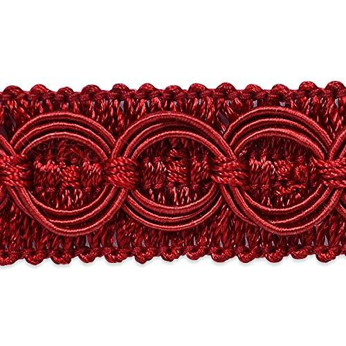 Expo International 20 Yd Of Collette Woven Braid Circle Trim, Wine