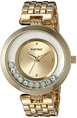 Ellen Tracy Women's Quartz Metal and Alloy Watch, Color:Gold-Toned (Model: ET5199GD)