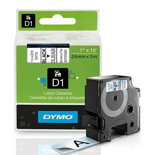 Dymo Standard D1 53710 Labeling Tape ( Black Print On Clear Tape 1'' W X 23' L 1 Cartridge)