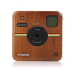 Polaroid Custom Designed Front Plate For Polaroid Socialmatic - Matte Brown Leather Look