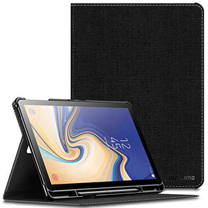 Infiland Samsung Galaxy Tab S4 10.5 Case with S Pen Holder (Auto Wake/Sleep) for Samsung Galaxy Tab S4 10.5 Model SM-T830/ T835 2018 Release, Black