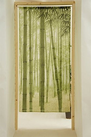 "Cosmo Noren Japanese Doorway Curtain Bamboo Forest 33.5""x59.1"""